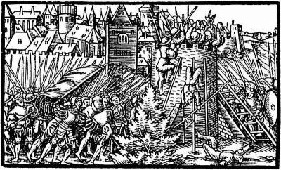 Осада Полоцка в 1563 году, гравюра из аугсбургского «летучего листка» Polock_1563.jpg